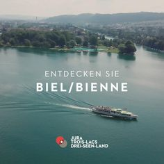 Entdecken Sie Biel mit seiner zweisprachigen Kultur und faszinierenden Welt der Uhren zum Spezialpreis! Travel Tours, Travel Destinations, Destination Voyage, Seen, Explorer, Switzerland, River, Landscapes, Traveling