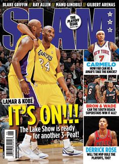 SLAM 148: Los Angeles Lakers Lamar Odom and Kobe Bryant appeared on the cover of the 148th issue of SLAM Magazine (2011, cover 4 of 4).