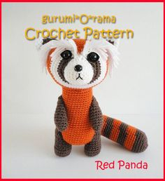 red panda amigurumi pattern, crochet red panda pattern, amigurumi croche pattern, stuffed plush ferret tutorial, instant download by gurumiorama on Etsy https://www.etsy.com/listing/104615969/red-panda-amigurumi-pattern-crochet-red