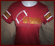 SAN FRANCISCO Football Ladies fit GLITTER Game by TheWhackyWhale, $22.00