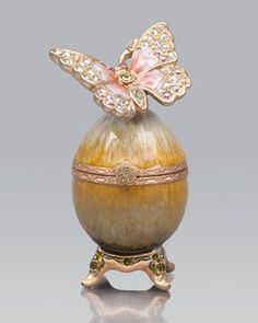 Amelie Butterfly Egg Box by Jay Strongwater at Neiman Marcus.