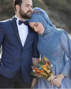 Best Ideas For Bridal Muslim Hijab Bride Hijab Wedding Dresses, Hijab Bride, Formal Dresses For Weddings, Romantic Wedding Photos, Wedding Poses, Wedding Bride, Couples Musulmans, Cute Muslim Couples, Turban Hijab