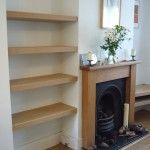 Neat MDF shelves in acolve