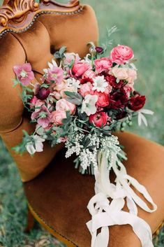 Beautiful-Wedding-Bouquet-Rich-Romantic-Pink-Red #weddingbouquets