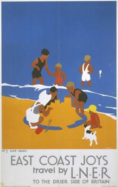 East Coast Joys - Safe Sands by National Railway Museum - art print from King & McGaw