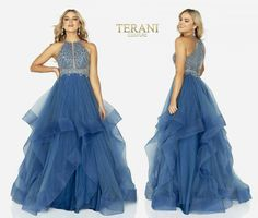 TERANI COUTURE 2011P1217 authentic dress. FREE FEDEX. BEST PRICE   eBay Hair Trim, Terani Couture, Layered Skirt, Horse Hair, Women Brands, Couture Fashion, Ball Gowns, Formal Dresses, Free