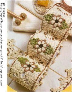 baño crochet | CROCHET - GANCHILLO - PATRONES - GRAFICOS