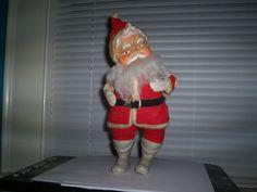 Vintage Stuffed Santa Claus 12 Tall White by thetrendykitchen, $24.95