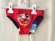 Costume da bagno mare piscina slip TOPOLINO rosso 6 anni