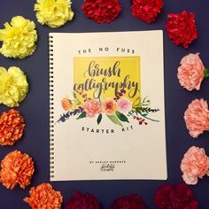 We love Printable Wisdom's No Fuss Brush Calligraphy Starter Kit. Whether you are just learning or perfecting your technique, this go-to book is full of beautiful designs and fun practice sheets.  Also check out her beautifully hand-lettered and illustrated art prints in the shop!  #papernmoreok #shoplocalok #calligraphy #handwritten #printablewisdom
