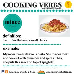 Cooking Verbs: mince