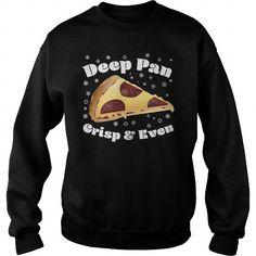 Awesome Tee Deep Pan Crisp And Even Christmas Pizza Sweatshirt Shirts & Tees