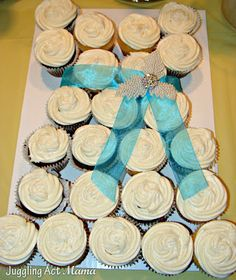 Bridal Shower Cup Cake Wedding Dress - Juggling Act Mama