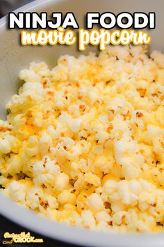 Are you looking for a way to make movie popcorn at home? Ninja Foodi Popcorn is a super simple way to make homemade popcorn in any electric pressure cooker. Ninja Recipes, Side Recipes, Dinner Recipes, Homemade Popcorn, Popcorn Recipes, Crock Pot Vegetables, Vegetable Recipes, Slow Cooker Recipes, Cooking Recipes