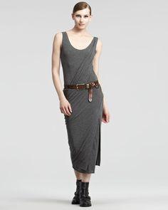 Sleeveless Melange Jersey Draped Dress - Lyst $1295.00
