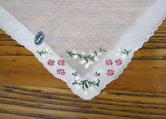 Vintage Handkerchief Embroidered Floral by BeautifulPurpose