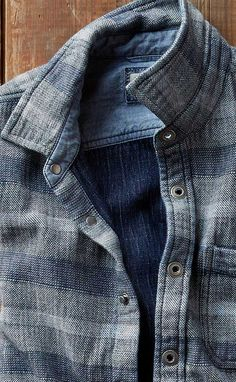 Arroyo Shirt-Jac: With it's side pockets and rugged indigo tones this shirt-jac reminds us a bit of a classic jean jacket — but takes things to a modern, new feel. Sink into its amazing softness and then catch your reflection — an immediate cool classic that's destined to be an old favorite.
