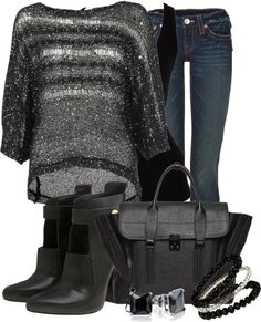 """""""Black and Silver"""" by coombsie24 on Polyvore"""