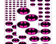 INSTANT DL-Batgirl for Balloon Stickers Lollipop Favor