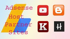 Get Adsense account easily.List of AdSense Host Partner Sites. Use them to open Hosted AdSense account easily.  https://www.youtube.com/watch?v=ABS3wkD-Fm4