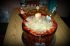Beer Cake- all of it is edible, including the bottles!