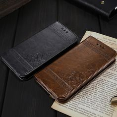 Retro Vintage Magnetic Flip PU Leather Wallet Stand Holder Cell Phone Case Cover Bag for Apple IPhone XS Max XR 7 8 6 6S 8Plus 7 Plus 6 6S Plus Samsu Leather Cell Phone Cases, Iphone Phone Cases, Mobile Phone Cases, Leather Wallet, Pu Leather, Flip Phone Case, P8 Lite, Wallet Pattern, Galaxy Note 9