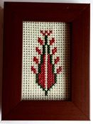Framed cross stitch