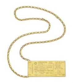 GOLD PENDANT, BY CARTIER: The Collection of Elizabeth Taylor: Jewelry (II)