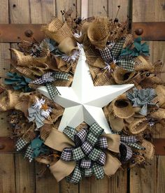 Primitive star wreath by WilliamsFloral on Etsy, $75.00