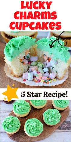 How to make St. Patrick's Day Lucky Charms Cupcakes Recipe