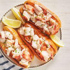 Lobster Roll Recipes, Fish Recipes, Seafood Recipes, Cooking Recipes, Best Lobster Roll Recipe Maine, Calamari Recipes, Brunch Recipes, Vegetarian Recipes, Rolled Sandwiches