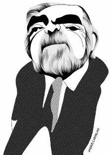 Caricaturas de André Carrilho em exposição - Mundo Pessoa