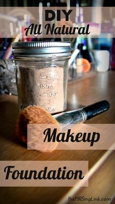 How to make your own diy makeup foundation   All natural makeup foundation powder   All ingredients you can find around the house