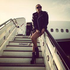 Lady Gaga leaving Athens