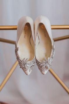 bejeweled shoes, photo by Mary + Roy Creative Studio http://ruffledblog.com/notwedding-philadelphia #weddingshoes #heels