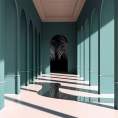 An imaginary space by digital artist Alexis Christodoulou.