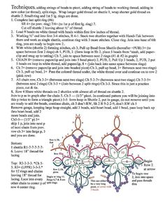 written patterns instructions earrings or motif
