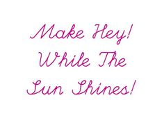 Video Tour! > Make Hey! While The Sun Shines by pip lincolne. A craft book by ME!