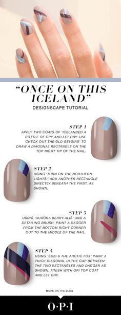 Recreate this fall nail art look from the OPI Iceland collection!