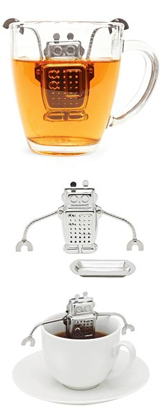► Robot Tea Infuser - SO cUte! ****It broke within 3 minutes of pulling it out of the package**** It was cute though
