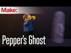 Pepper's Ghost is a special effects technique for creating transparent ghostly images. It works by reflecting the image of a ghost off of a sheet of plexiglass. Diy Halloween Ghosts, Halloween Items, Halloween Season, Halloween Crafts, Halloween Decorations, Halloween 2014, Science Fair, Science For Kids, Physical Science