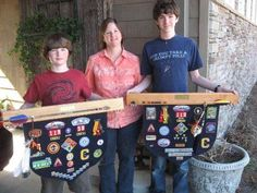 Cub Scout banners. Maybe when boys earn arrow of light...