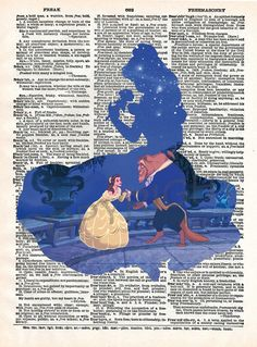 Beauty and the Beast Dictionary Art Print