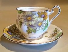 Royal Albert Flower of the Month Series Daisy Tea Cup and Saucer