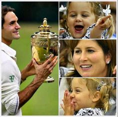 The Federers at Wimbledon 2012 ~ great family collage!