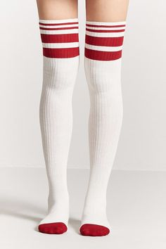 Varsity Stripe Over-the-Knee Socks