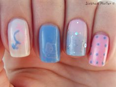 Cute cotton candy based themed nails (at least that's how I see it.)