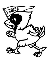 Western Illinois Leathernecks Mascot Logo Rocky The