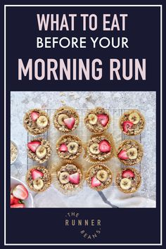 """""""Do you know what to eat before a morning run for best results? Hear what the experts have to say  #whattoeatbeforearun #whattoeatbeforeamorningrun  #whattoeatbeforearunmornings #whattoeatbeforearunbreakfast #therunnerbeans """" Healthy Food Habits, Healthy Meals For One, Healthy Summer Recipes, Healthy Recipes For Weight Loss, Healthy Breakfast Recipes, Healthy Baking, Healthy Breakfasts, Healthy Life, Best Lunch Recipes"""