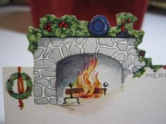 1920's embossed die cut unused christmas gift card by puffadonna